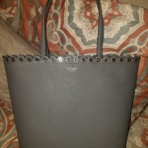Kate Spade smoky pearl leather handbag